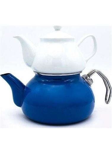 Sembol Emaye 1000 Mavi Çaydanlık Renkli
